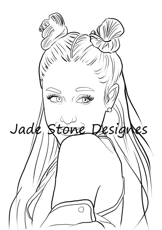 Ariana Grande Adult Colouring Sheet Printable Download Etsy