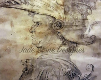 Centurion roman soldier high quality hand signed prints