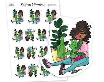 Indoor plants Planner Stickers, Nia - S0832/S0846, Cactus Planner Stickers