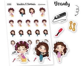 Tumma planner stickers - Beauty, S0008, Erin Condren Life planner stickers, beautiful stickers, kawaii stickers, happy planner stickers