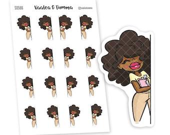 Peek-a-boo Planner Stickers, Nia - S0566/S0576, Peeking Stickers