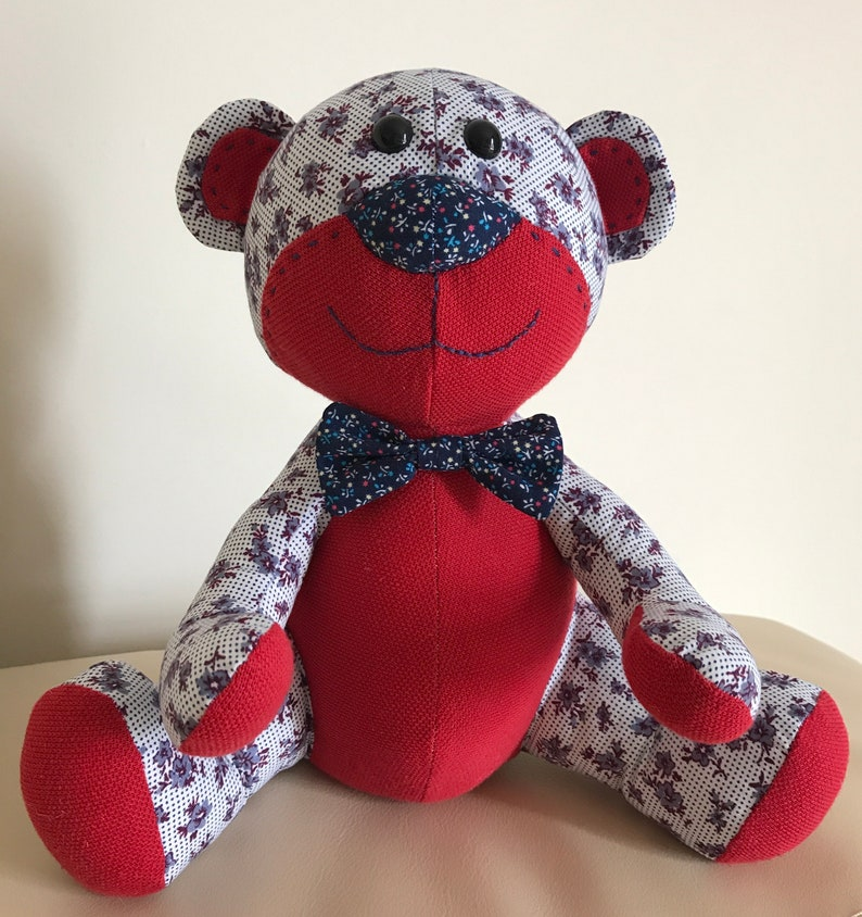 Memory Bear with free Personalisation Keepsake Bear Bespoke Keepsake Keepsake Plush Memory Bear