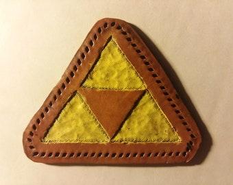 Zelda Triforce Leather Patch