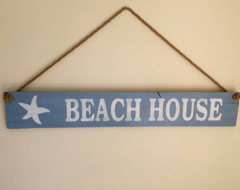 Beach House Sign, Pallet Beach House Sign