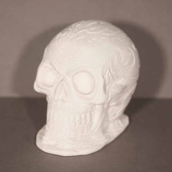 latex mould for making this Armoured Skull
