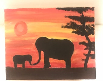 Elephant Canvas Painting!
