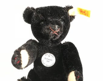 Black Steiff Miniature Schwartbar teddy bear authentic with tags