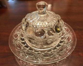EAPG Covered BUTTER DISH