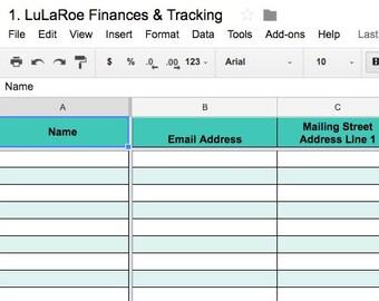 lularoe finances tracking