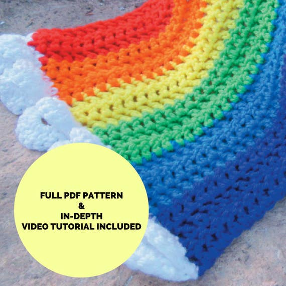 Happy Hug Rainbow Scarf Premium Crochet Pattern Full Pdf Etsy