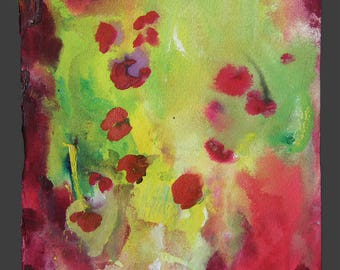 Floating Flowers - original watercolor painting