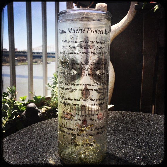 Santa Muerte Protection Candle