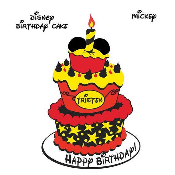 Disney Cruise Door Birthday Cake Magnet Mickey Mouse Minnie Etsy