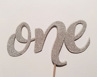 The number ONE, first birthday cake topper