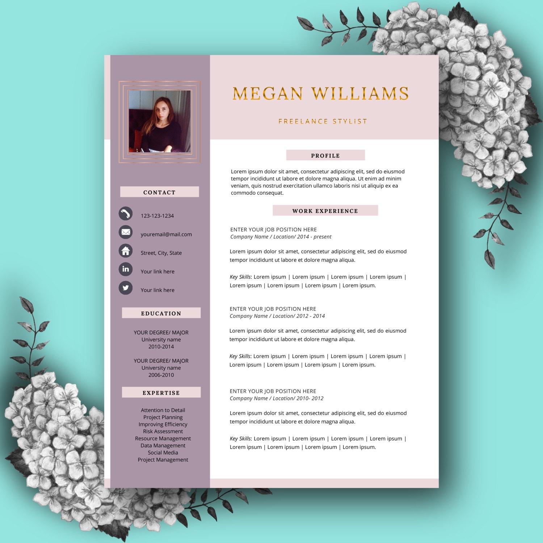 Plantilla de curriculum vitae creativo CV plantilla para MS   Etsy