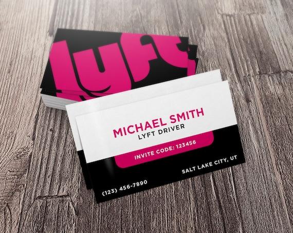 Lyft Business Cards >> Lyft Business Card Lyft Referral Card Lyft Code Card Lyft Business Card Lyft Promotion Card Lyft Promo Card