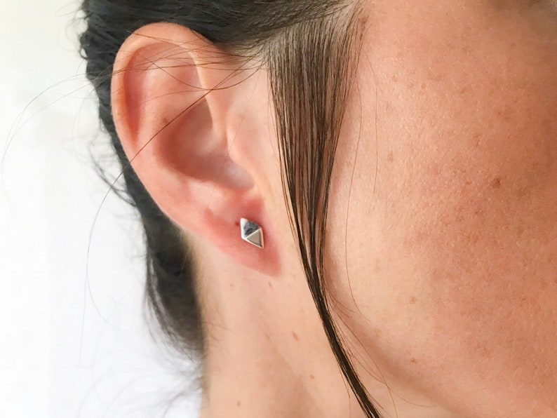 5aa2cfb28 Minimalist tiny silver stud earrings Small silver earrings   Etsy