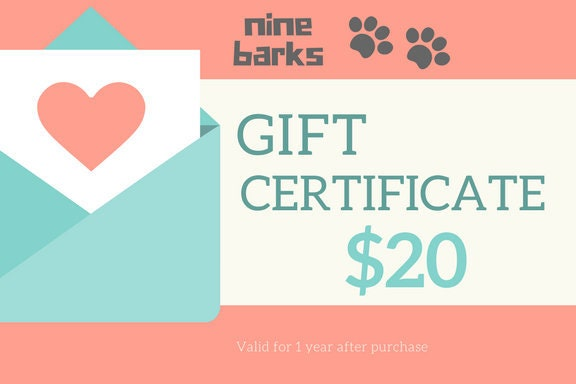 gift certificate gift for dog lovers gift for cat lovers