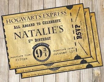 Hogwarts Ticket Etsy