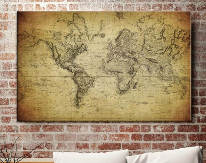 Antique World Map - World Map Canvas Prints