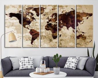 World map canvas etsy gumiabroncs Gallery