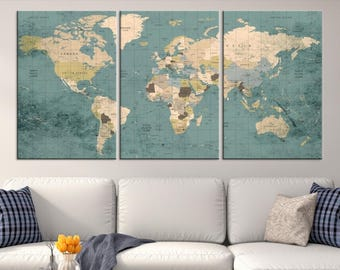 World map wall art etsy large world map world map wall art world map push pin world map canvas world map art print world map abstract world map office art gumiabroncs