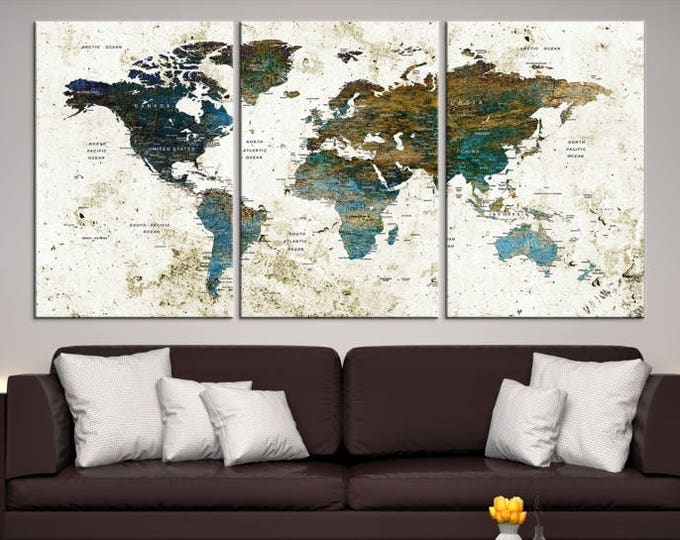 World map canvas prints world map canvas prints world map canvas print world map canvas art large world map push pin canvas gumiabroncs Images