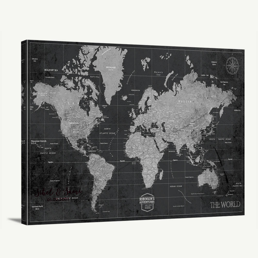 World map canvas print custom world map wall art vintage world map world map canvas print custom world map wall art vintage world map canvas print world travel map print personalize travel map wall art gumiabroncs Image collections