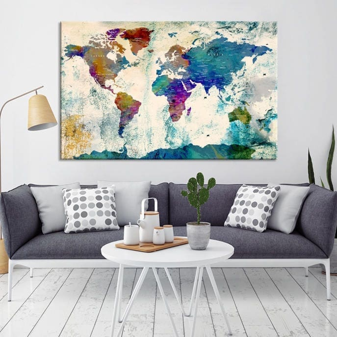 World map wall art world map canvas world map print world map world map wall art world map canvas world map print world map poster world map art world map push pin push pin world map gumiabroncs Image collections