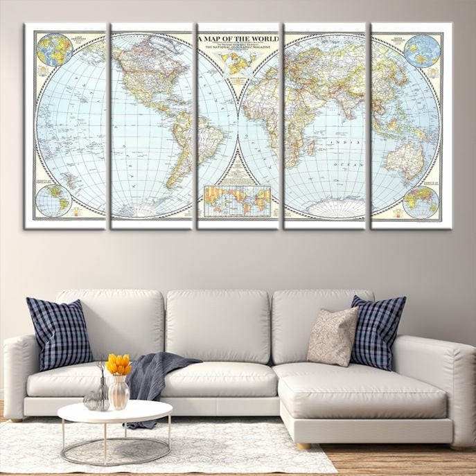 Large wall art world map canvas print old world map travel wall art large wall art world map canvas print old world map travel wall art canvas print gumiabroncs Choice Image