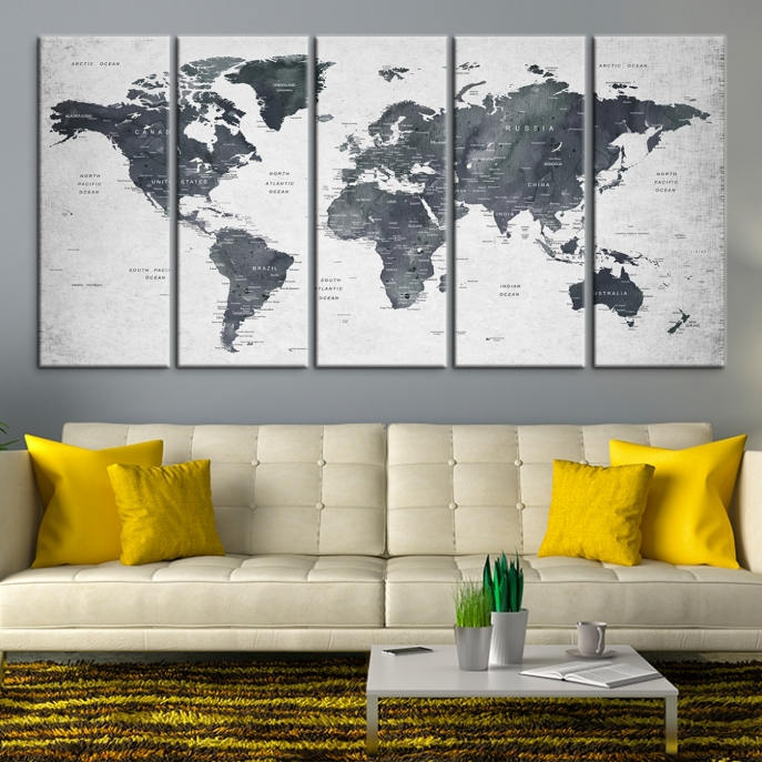 World map wall art world map push pin travel push pin world map travel map art gallery photo gallery photo gumiabroncs Image collections