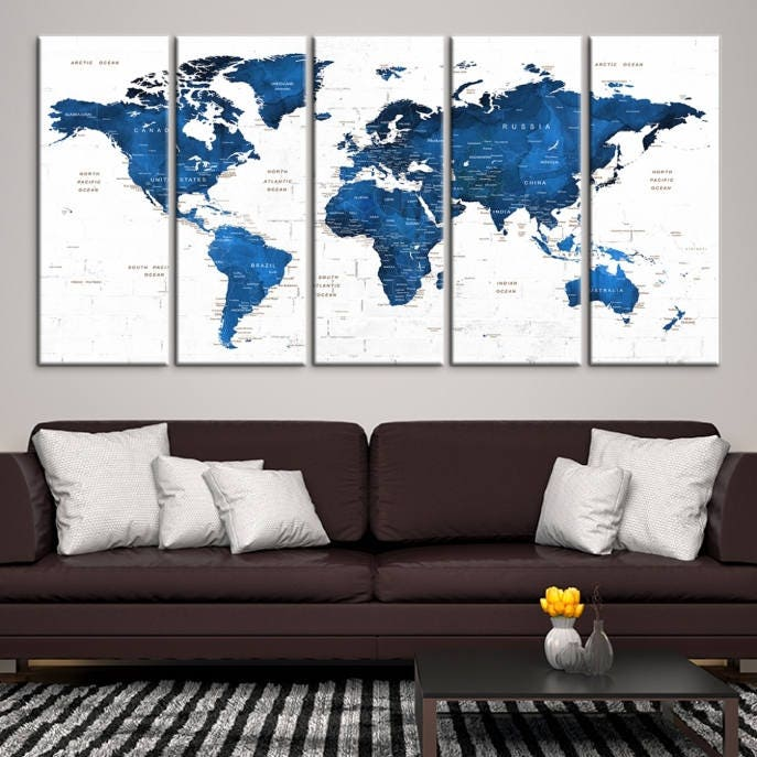 Large wall art world map canvas print navy blue world map push pin personalized world map wall art gallery photo gallery photo gallery photo gallery photo gallery photo gumiabroncs Image collections