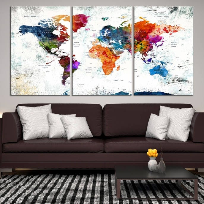 World map wall art world map canvas world map print world map gallery photo gallery photo gallery photo gallery photo gumiabroncs Image collections