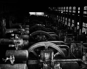 Black and White photography, Vintage, Industrial - Steel Mill