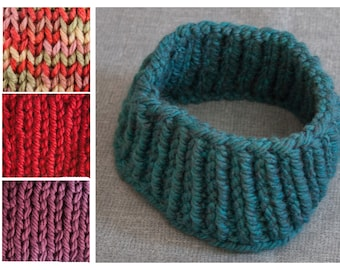 Hand Knitted Custom Made Ear Warmer; multiple colors