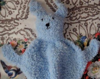 Blauw knuffel Bunny