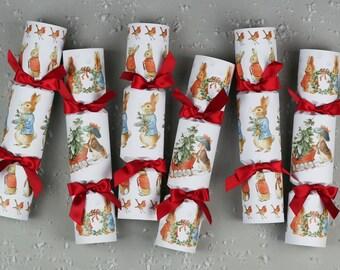 Peter Rabbit Christmas Crackers - Christmas Crackers - Peter Rabbit Christmas - Luxury Christmas Crackers