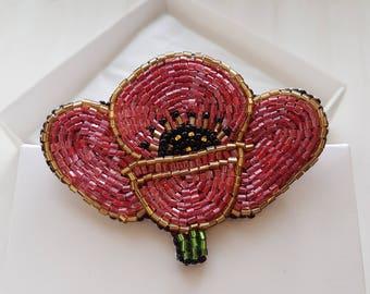 Poppy brooch poppy seed jewelry