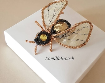 Brooch insect