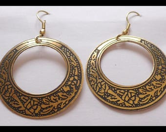 Bollywood belly dance hippie earrings silver or gold colored India baba
