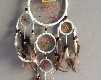 Dream catcher Dreamcatcher dreamcatcher Native American feathers, leather and natural stones Apache dream catcher Indian warrior