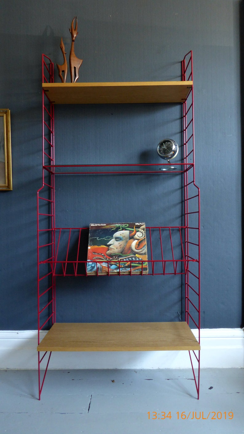 Vintage Retro Mid Century String Shelving Strinning Modular Book Case Shelf Tomado Ladderax Delivery Is An Estimate Please Send Postcode