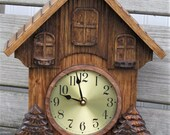 Small Wall Clock, Black Forest Clock, Wall Clock, Small Mantle Clock, Country Clock