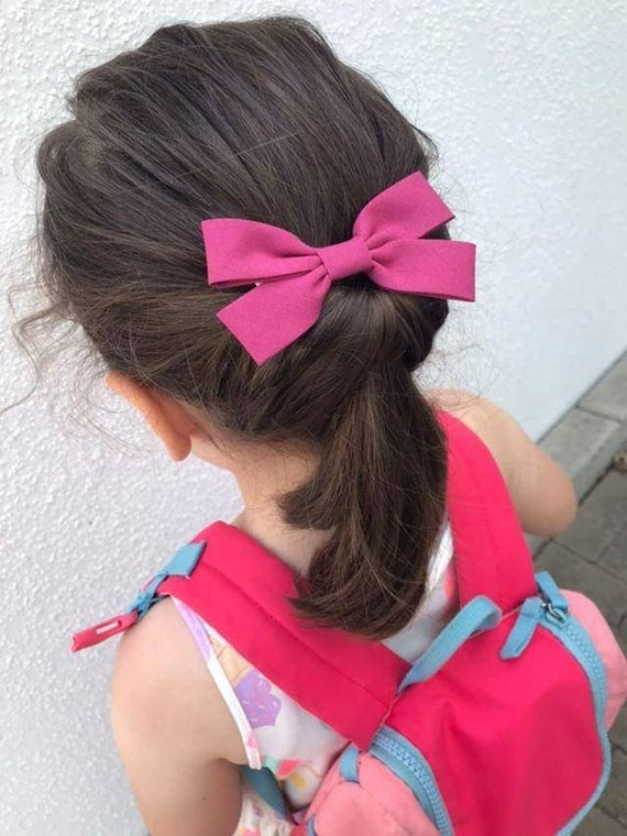 baby bows hair clips pigtail bows hair bows for girls hair bows Pink leopard print hair bow set girls hair bows 3 inch hair bows
