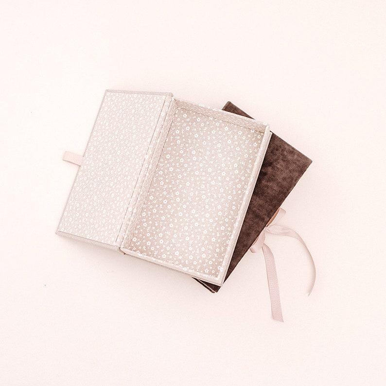 Hair accessories box 6*10 inch bow storage box Keepsake box Linen box for bows Boho jewelry box Memory box