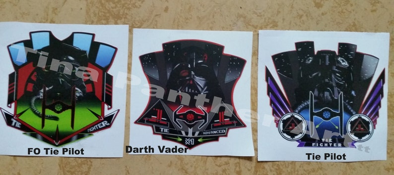 Darth Vader Tie Pilot Tie Fighter Tie Advanced Sticker Aufkleber Outdoor