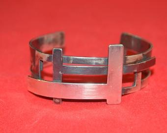 925 Sterling Silver Oxidised Hallmarked Cuff.