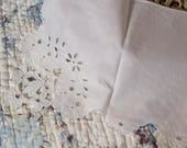 Set of 5 handmade vintage doilies hand for fireplace mantle