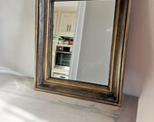 Nice mirror in an old French black patina - gold