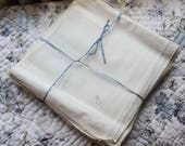 Very rare set of 12 french handkerchiefs former new H 1920 s monograms
